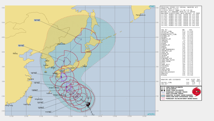KROSA(11W): WARNING 25. FORECAST TO BE SOUTH OF JAPAN IN 72H AS A TYPHOON