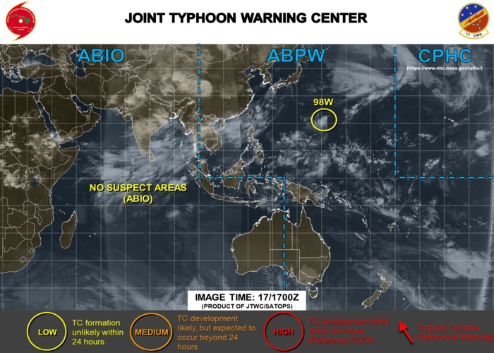 Invest 98W and Invest 97W: updates