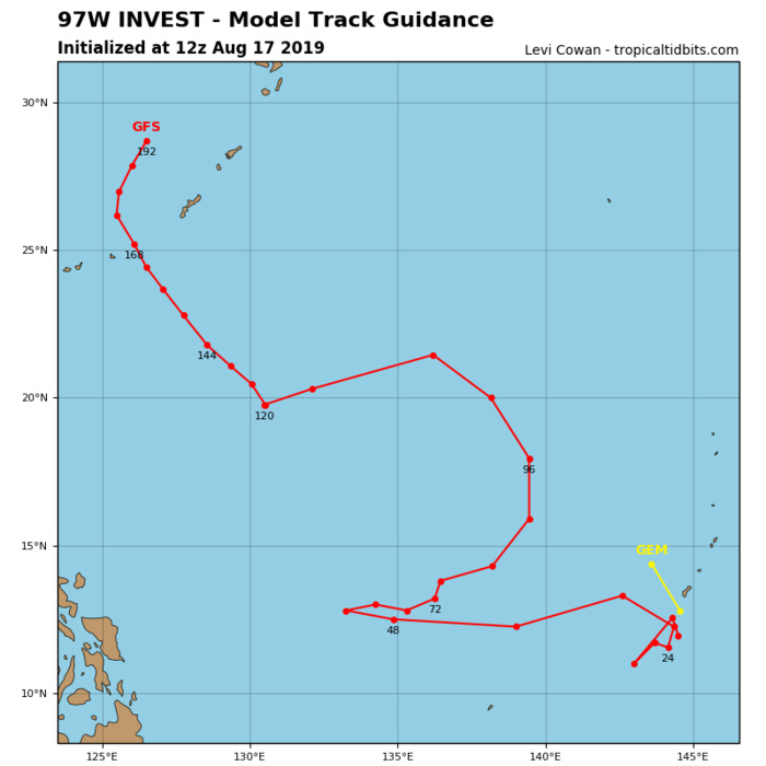 INVEST 97W: TRACK GUIDANCE