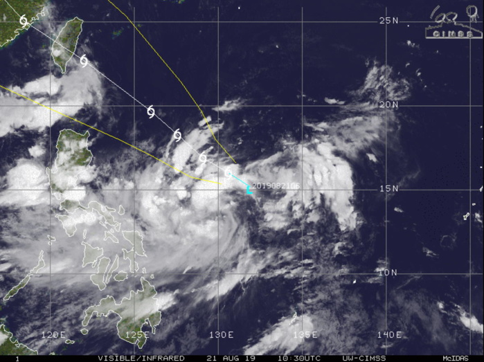 Invest 97W is now TD BAILU(12W). Intensifying, landfall over Taiwan shortly after 72h