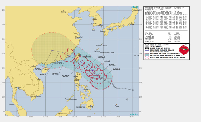 TS Bailu(12W) forecast to be a Typhoon within 24h, landfall in Taiwan shortly before 72h