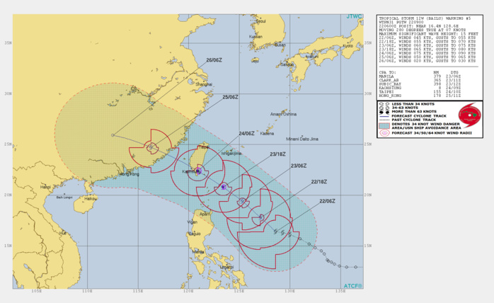 TS Bailu(12W) gradually intensifying to Typhoon intensity within 36h