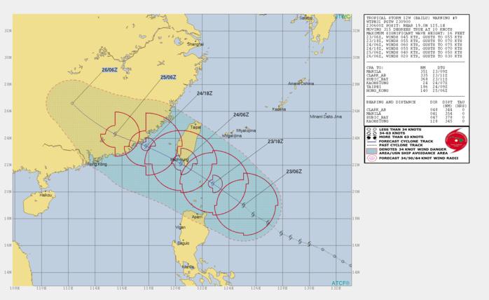TS Bailu(12W) showing signs of organisation, approaching southern Taiwan