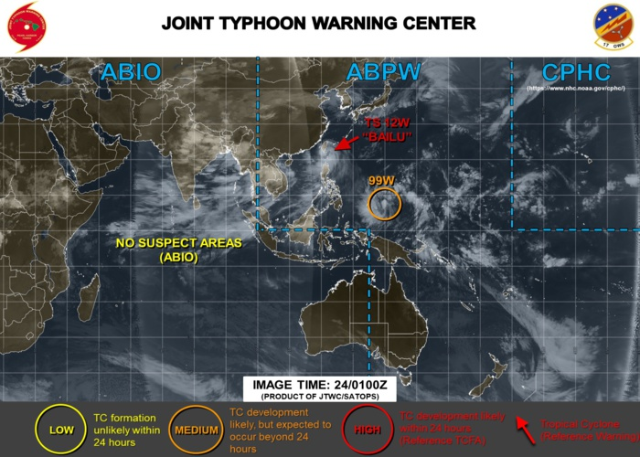 Invest 99W near Yap, moving West North-west, gradual intensification next several days