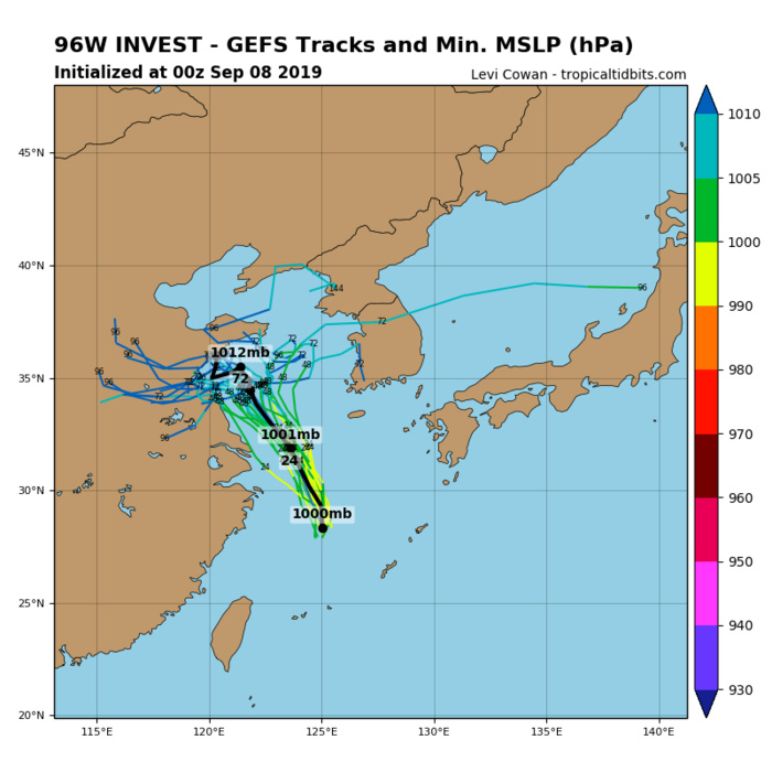 INVEST 96W: TRACK AND INTENSITY GUIDANCE
