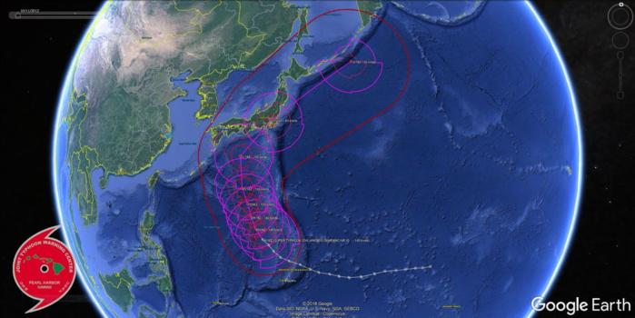 Super Typhoon Hagibis back to Category 5