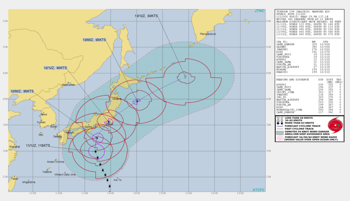Typhoon Hagibis is forecast to track dangerously close to the Tokyo area shortly before 24h