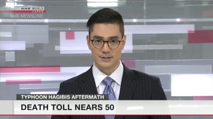 NHK World annonce 50 morts suite au passage du Typhon Hagibis. Le bilan n'est malheureusement pas définitif.