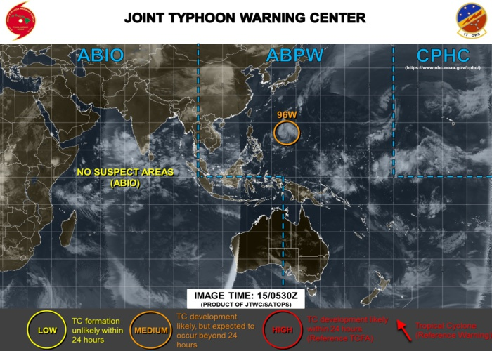 Invest 96W: forecast to track toward Luzon with slow development