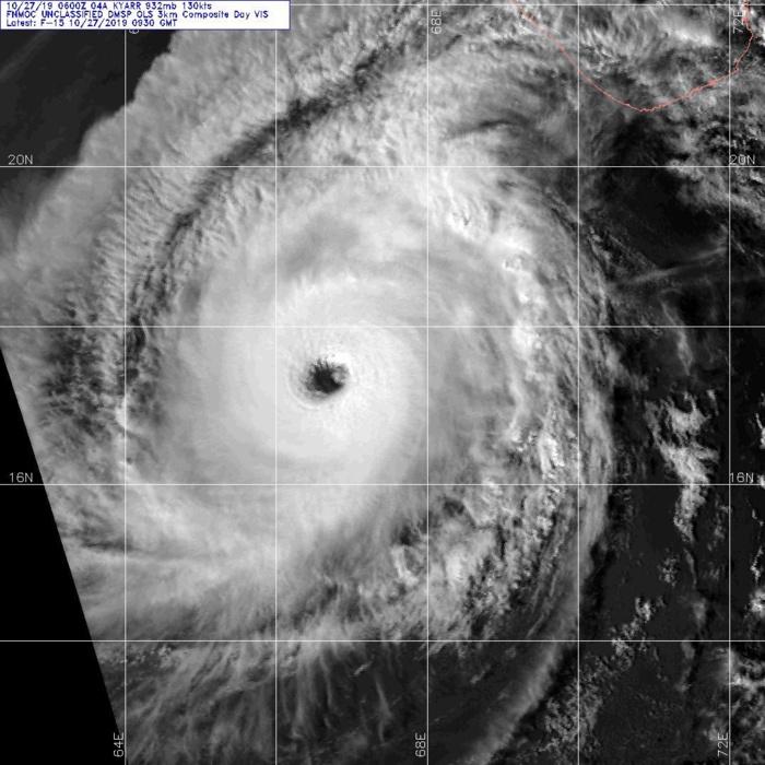 KYARR capturé par un satellite de la Défense US à 13h30 aujourd'hui heure des Mascareignes. US NAVY