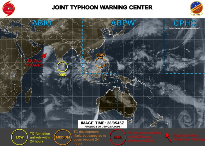 Invest 98W may intensify once over the South China Sea