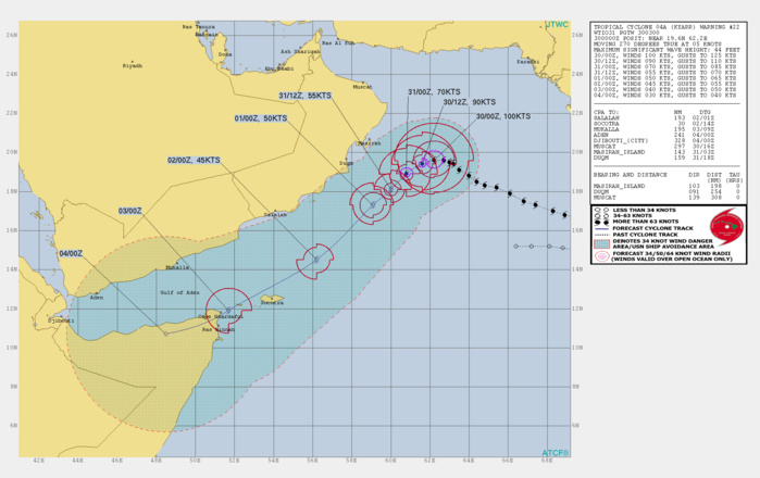 TC 04A: WEAKENING RAPIDLY DOWN TO BELOW TYPHOON INTENSITY AFTER 24H
