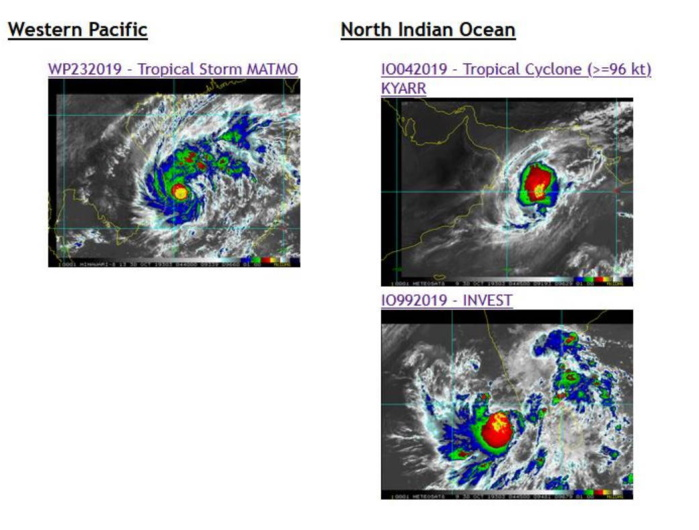 Matmo(23W), Kyarr(04A) and Invest 99B updates
