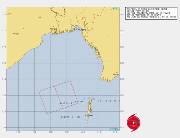 23W: TROPICAL CYCLONE FORMATION ALERT OVER THE BAY OF BENGAL