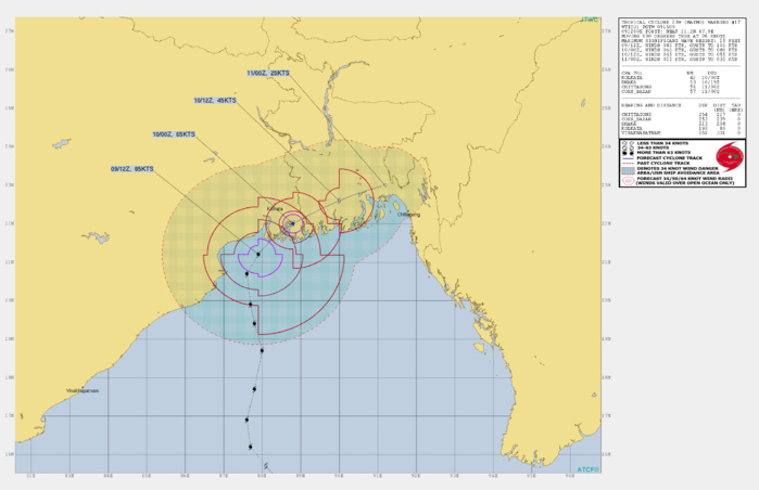 TC Matmo/Bulbul landfall approx 100km south of Kolkata as a dangerous Cat 2