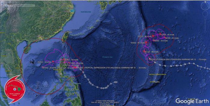 Typhoon Fengshen and Tropical Depression Kalmaegi: updates at 15/03UTC