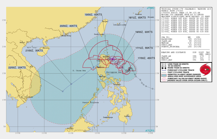 TS 27W: SLOWLY APPROACHING NORTHEAST LUZON WHILE INTENSIFYING