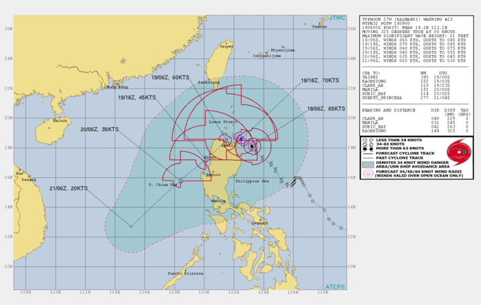 Typhoon Kalmaegi is intensifying, forecast to make landfall over Northern Luzon in apprx 24h