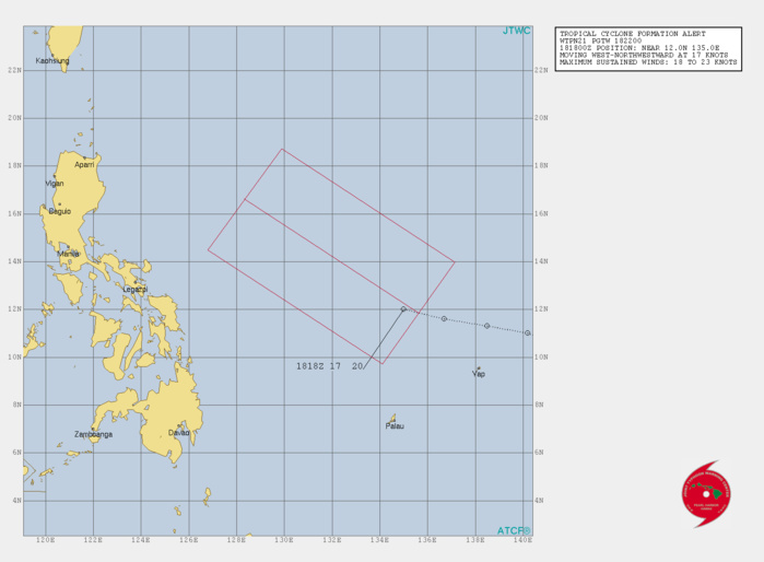 Typhoon Kalmaegi: forecast landfall near Aparri within 12h. Invest 93W: Trop Cyclone Formation Alert