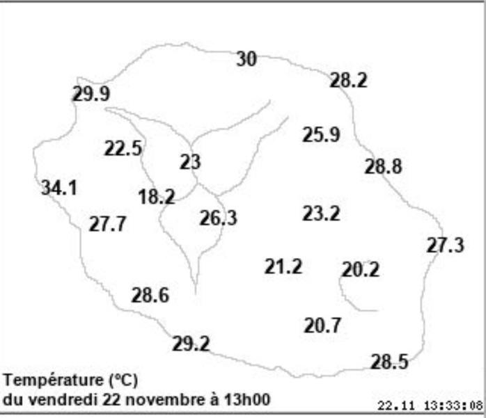 Pointe des 3 Bassins: Nouveau record de température relevé par Météo France