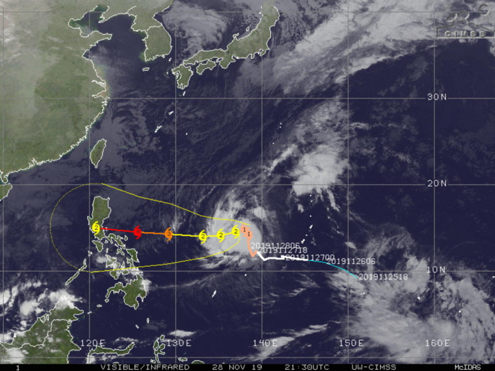 Typhoon Kammuri(29W) : update at 28/21UTC