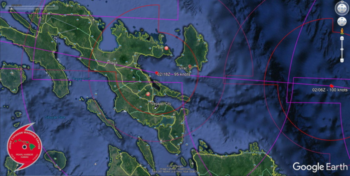 FORECAST TO BE NEAR VIRAC SHORTLY BEFORE 48H