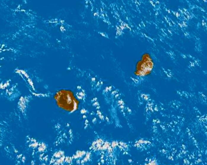 Les Iles Soeurs vues par Météosat8 ce matin à 8h45.