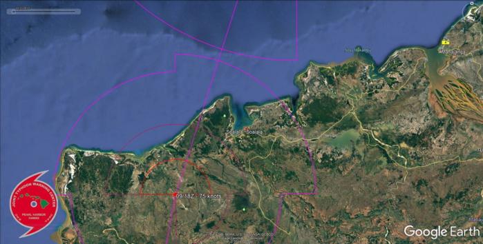 TC 02S(BELNA) making landfall near Soalala/Madagascar within 12h as a Cat1/2