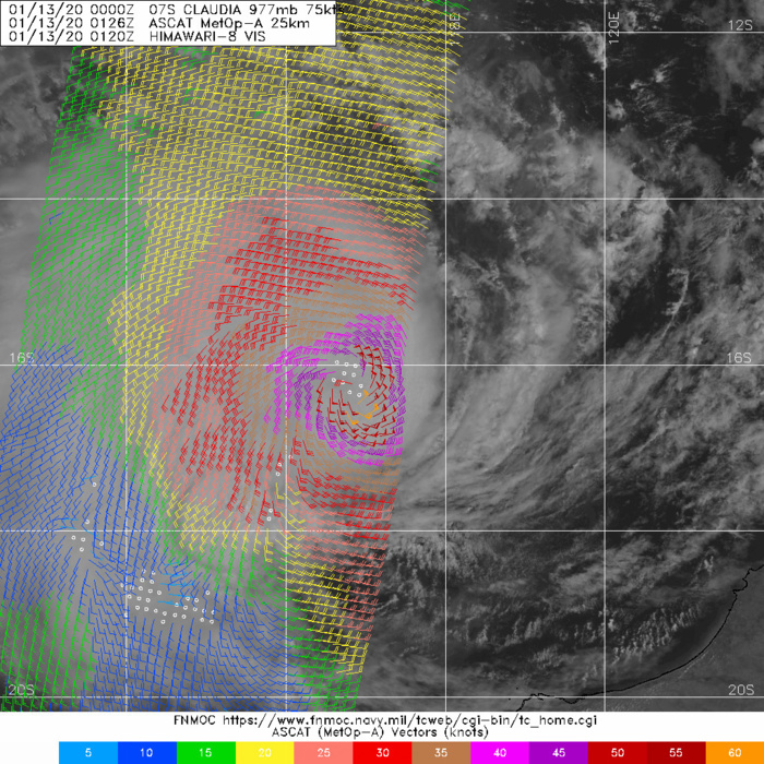 07S(CLAUDIA) still a category 1 US but intensifying over open waters