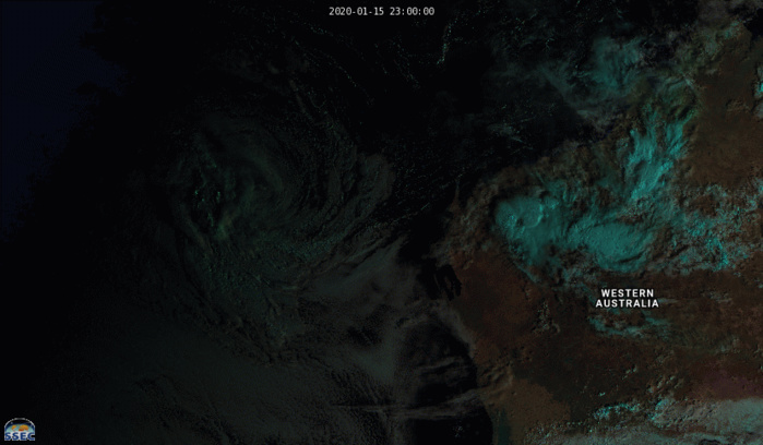 Western Australia area: 07S(CLAUDIA) : Final Warning. Peak intensity was 80knots( top CAT 1US)