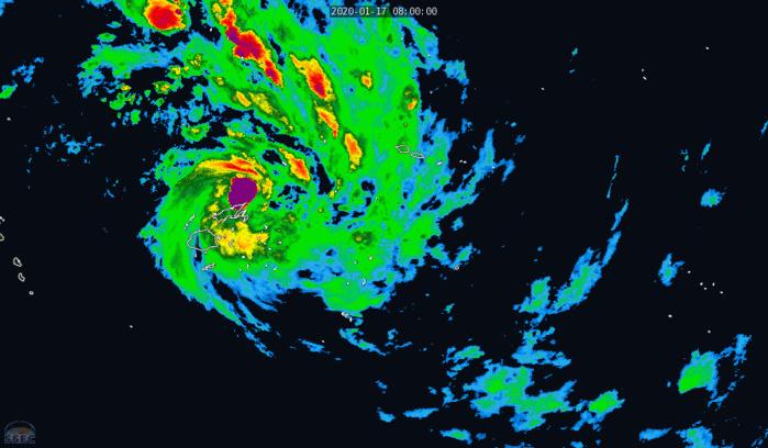 TC 08P(TINO), category 1 US, is tracking close to Ha'apai and Nuku'alofa/Tonga