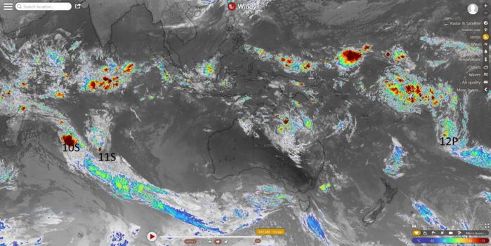 Southern Hemisphere cyclonic trio: 10S(DIANE), 11S(ESAMI), 12P: updates