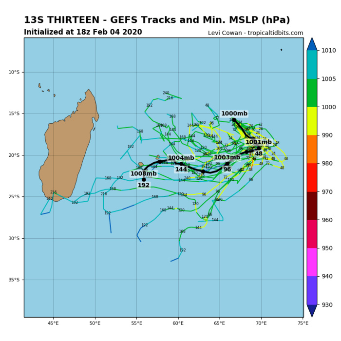 South Indian: TC 13S and 92S update at 05/00UTC