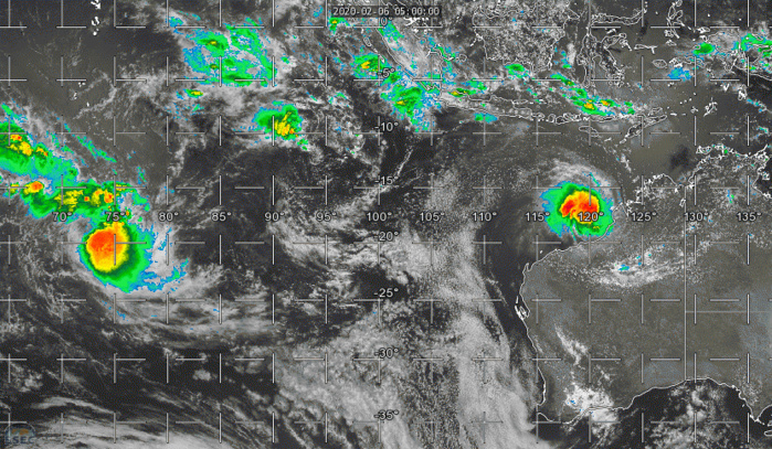 South Indian: TC 14S(DAMIEN) and TC 13S(FRANCISCO) update at 06/09UTC