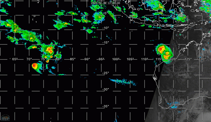 TC 14S(DAMIEN) intensifying, 13S(FRANCISCO) & 91P: updates at 07/03UTC
