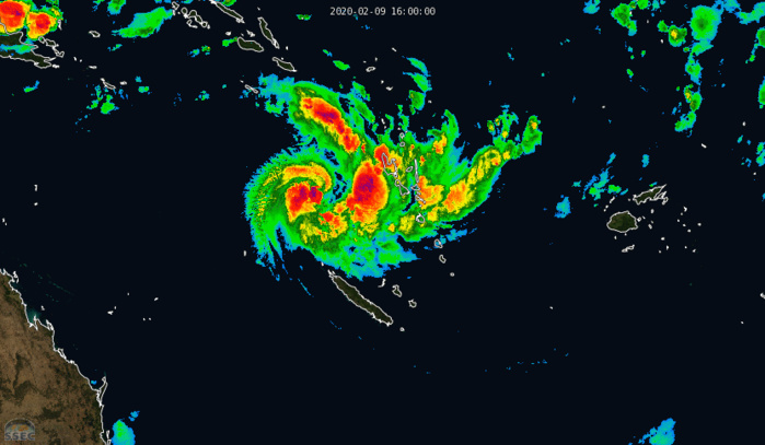 South Pacific: TC 15P(UESI) undergoing rapid intensification, update at 09/21UTC