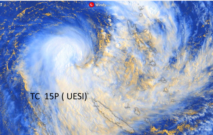 South Pacific: TC 15P(UESI) update at 10/03UTC