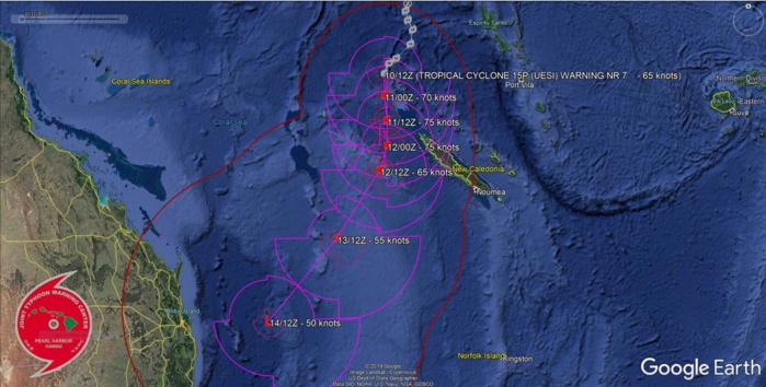 South Pacific: TC 15P(UESI) now a CAT 1 US, update at 10/15UTC