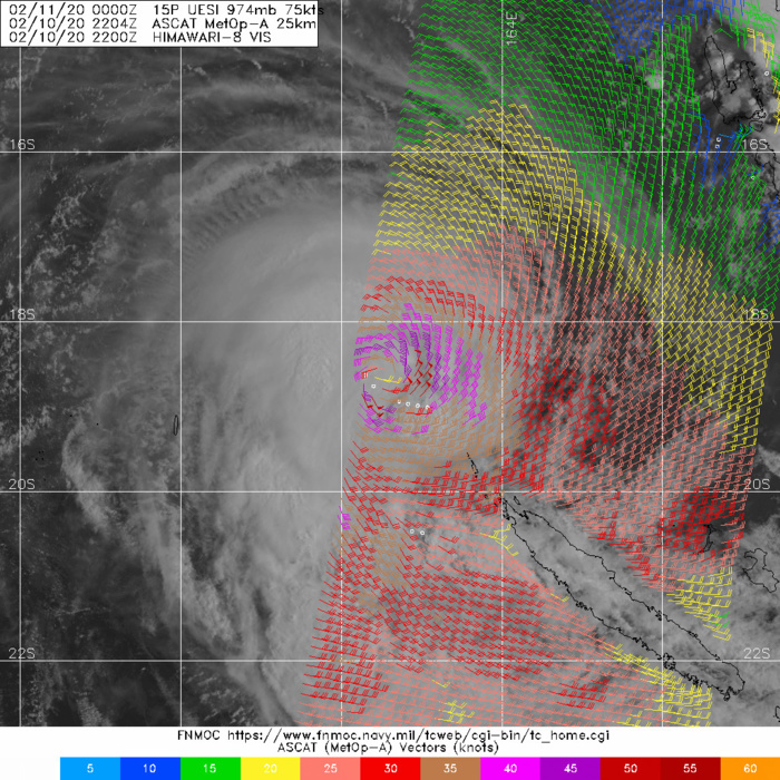 South Pacific: TC 15P(UESI) 75knots cyclone, update at 11/03UTC