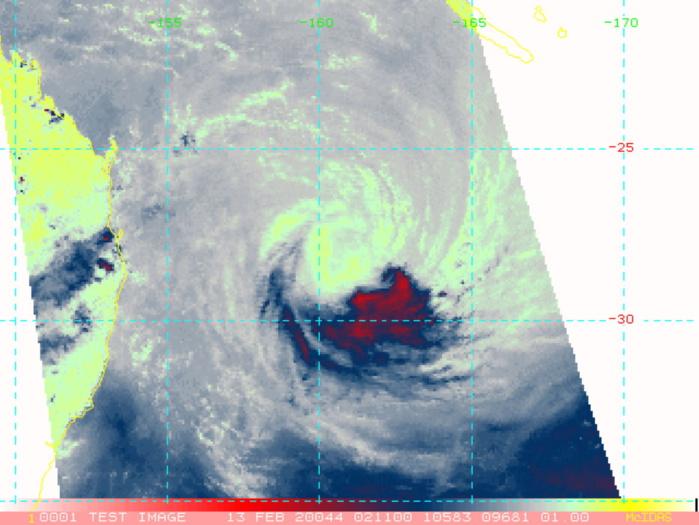 South Pacific: TC 15P(UESI) ,Final Warning, peak intensity was 80knots ( CAT 1US)