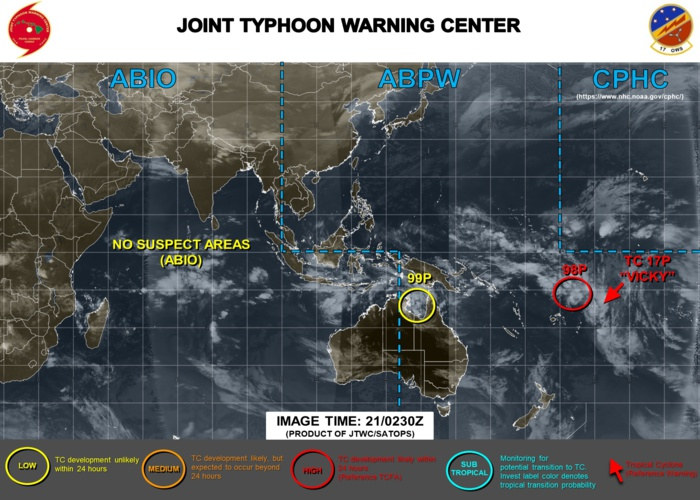 South Pacific: TC 17P(VICKY), Invest 98P:Tropical Cyclone Formation Alert, 96P & 99P: updates