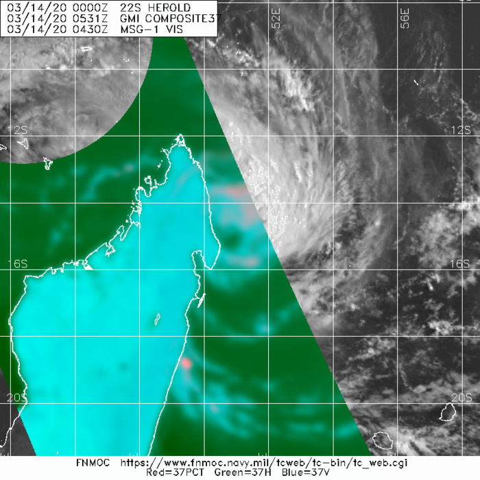 South Indian:TC 22S(HEROLD) is forecast to intensify quickly next 48h