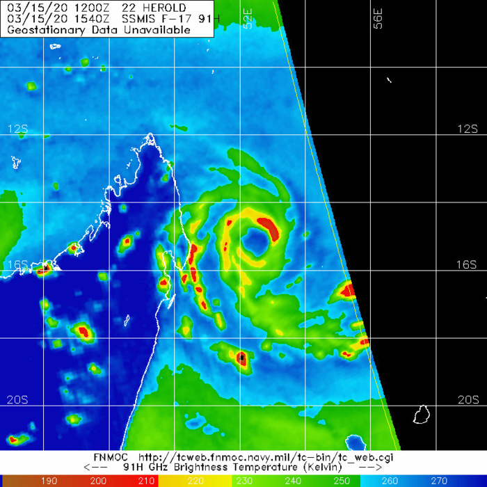 TC 22S(HEROLD): intensifying to CAT3 US within 24h, TC 23P(GRETEL): beginning ET transition