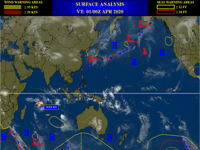 South Indian: Invest 91S now HIGH for the next 24h. South Pacific: Invest 90P: MEDIUM