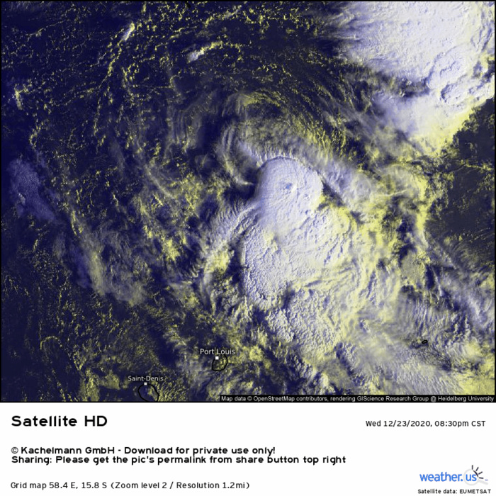 2H ANIMATION. THE CENTER IS STILL EXPOSED TO THE NORTH OF THE DEEP CONVECTION BUT ORGANISATION IS SLOWLY IMPROVING. CLICK IF NECESSARY TO ANIMATE.