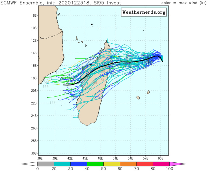 THE EURO MODEL HAS BEEN CONSISTENTLY MORE SOUTHWARDS THAN GFS. THE RSMC FORECAST TRACK IS CLOSE TO THE EURO DEPICTIONS.