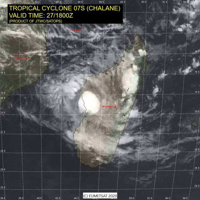 TC 07S(CHALANE) forecast to intensify significantly over the Mozambique Channel