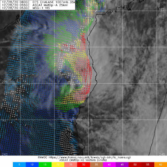 280550Z ASCAT-A PASS, WHICH SHOWED A BAND  OF 30-35 KNOT WINDS STRETCHING FROM THE NORTHEAST TO SOUTHEAST  QUADRANTS, BETWEEN THE LLCC AND THE COASTLINE.