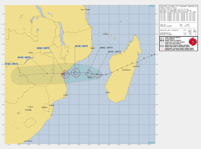 TC 07S(CHALANE) intensifying and slowly approaching Beira/Mozambique, 93S not doing much