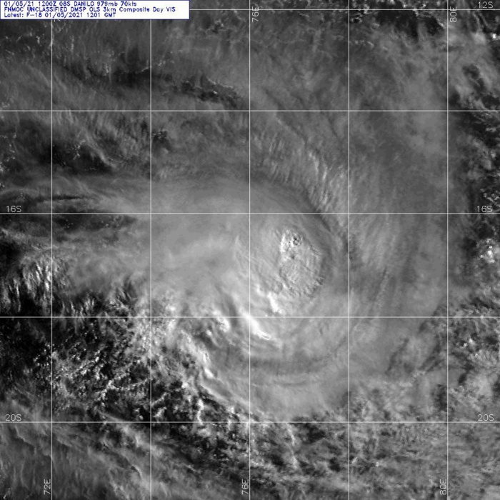 05/1201UTC. DMSP. SATELLITE IMAGERY SHOWS THE SYSTEM HAS MAINTAINED COMPACT DEEP  CENTRAL CONVECTION WITH SHORT RAIN BANDS WRAPPED TIGHTER INTO THE  CORE.